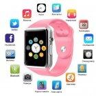 Умные смарт часы Smart Watch A1 з камерою pink - изображение 1