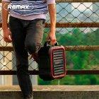 Портативная беспроводная Bluetooth акустическая система REMAX Song K Outdoor Portablae RB-X3 колонка чемодан караоке с микрофоном Black (RB-X5) - зображення 6
