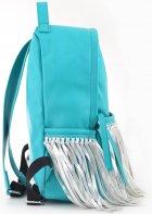 Сумка-рюкзак Yes Weekend 36x26x11 Мятный с бахромой (5060487839123) (554197) - изображение 3