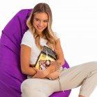Крісло груша мішок з підкладкою Prolisok фіолетовий 80х115 (L) Oxford 600d PU - зображення 2