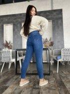 Джинси жіночі з латками джинс стрейч Miss Podium Синій 52 - зображення 4