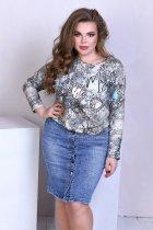 Спідниця джинсова з кишенями на гудзиках Miss Podium Блакитний 56 - зображення 1