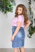 Спідниця джинсова коротка з розрізом Miss Podium Блакитний 48 - зображення 2