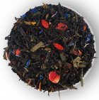 Бленд черного и зеленого чая с клубникой и лепестками цветов Lovare Брызги шампанского 80 г (4820097815556) - изображение 4