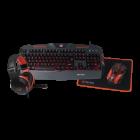 Комплект игровой 4 в 1 Meetion MT-C500 Проводная геймерская клавиатура мышь наушники коврик Черный - зображення 8