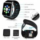 Розумні Годинник Smart Watch А1 Pro на Android з Bluetooth microSD крокомір камера Turbo Black GSO 305-648 - зображення 3