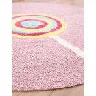 Дитячий килим бавовняний круглий, рожевий Ø 120 см - зображення 2