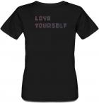 """Жіноча футболка Fat Cat BTS Bangtan Boys """"Love Yourself"""" (чорна) XXL 30473 - зображення 2"""