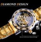 Механічний годинник Winner Diamonds (gold) - зображення 4