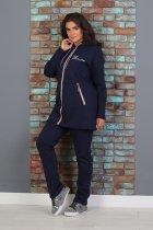 Утепленный трикотажный костюм Slazer с удлиненной курткой 48 Темно-синий (308/1) - изображение 2