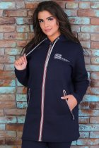 Утепленный трикотажный костюм Slazer с удлиненной курткой 48 Темно-синий (308/1) - изображение 3
