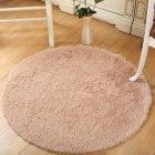 Килим круглий в спальню, вітальню Ø 160 см середній ворс, бежевий L0191.4 - зображення 1