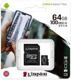 Kingston microSDXC 64GB Canvas Select Plus Class 10 UHS-I U1 V10 A1 + SD-адаптер (SDCS2/64GB) - зображення 3