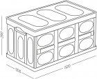 Ящик для зберігання MVM розкладний з кришкою FB-1 55 л Бежевий (FB-1 55L BEIGE) - зображення 7