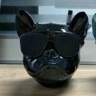 Портативная безпроводная дизайнерская Bluetooth колонка + радио Aerobull DOG Head Mini голова бульдога Черный - изображение 6