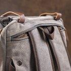 Мужская сумка Vintage leather-20151 Серая - изображение 8