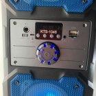 Портативная беспроводная Bluetooth колонка KTS 1048 аккумуляторная с пультом 10 Вт Синяя - изображение 2