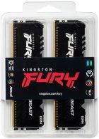 Оперативная память Kingston Fury DDR4-2666 131072MB PC4-21300 (Kit of 4x32768) Beast RGB Black (KF426C16BBAK4/128) - изображение 3