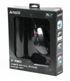 Миша A4Tech X-710BK Black USB + килимок A4Tech X7-200MP - зображення 2