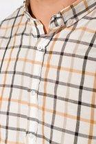 Рубашка в клетку Time of Style 511F047 S Серо-бежевый - изображение 5