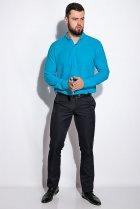 Деловая однотонная рубашкка Time of Style 511F018 XXXL Бирюзовый - изображение 1