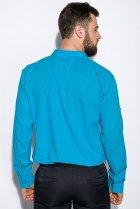 Деловая однотонная рубашкка Time of Style 511F018 XXXL Бирюзовый - изображение 4