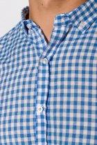 Рубашка Time of Style 511F037 XS Бело-голубой - изображение 5
