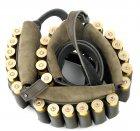 Закритий патронташ на пояс, шкіра Ретро, на 24 патрони 12-16 калібру, колір Оливковий (10301/3) - зображення 3