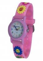 Дитячі годинники Biaoma Сонечко, Квіти, рожевий корпус (Baby 3) - зображення 1