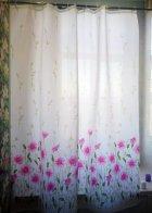 Шторка для ванної Miranda SUN PINK FLOWERS (Туреччина) рожевий 180х200 см М6029 - зображення 1