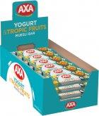 Упаковка зерновых батончиков AXA со вкусом йогурта и тропическими фруктами 25 г х 24 шт (4820008129437) - изображение 1