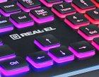 Клавіатура дротова Real-El 8000 Comfort Backlit USB (EL123100033) - зображення 7