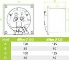 Вытяжной вентилятор AirRoxy dRim 100 S BB - изображение 2