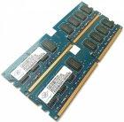 Оперативная память Nanya DDR2 4Gb (2Gb+2Gb) 800MHz PC2 6400U CL6 (NT2GT64U8HD0BY-AD) Б/У - изображение 2