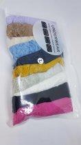 Набор женского нижнего белья трусики стринги Oxa кружевные хлопковые разноцветные 10 штук (M-L) - изображение 1