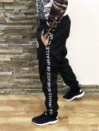 Спортивные штаны (плащевка) Miracle Casual wreath S черные (N05) - изображение 2