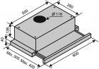 Витяжка VENTOLUX GARDA 60 CREMA (700) SLIM - зображення 7