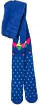 Махрові колготки теплі для дівчинки BROSS 17595 86 - 92 см синій (126533) - зображення 1