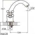 Змішувач для раковини AQUATICA PL-2A155C - зображення 6