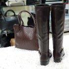 Сапоги зимние коричневые 37 H423M-G1161к Toleeao - изображение 3