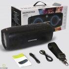 Беспроводная портативная музыкальная блютуз колонка Hopestar А6 Party - Встроенный микрофон и функция громкой связи + мощный сабвуфер с влагозащитой IPX6 - акустическая переносная система - громкое звучание и мощный бас со светомузыкой и ремнем, Black - изображение 15
