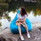 Крісло Мішок Груша Оксфорд 120х85 Студія Комфорту розмір Стандарт блакитний - зображення 5