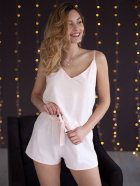 Пижама женская с шортами (майка + шорты) Mito Soft-Touch 44 (S) Персик - изображение 3