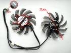 Вентилятор FirstD для відеокарти ASUS FD7010H12S (T128010SU PLD08010S12HH) комплект 2 шт (№85) - зображення 3