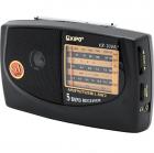 Аккумуляторный компактный радиоприемник FM приемник Чёрный Kipo (KB-308AC) - изображение 1