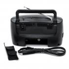 Аккумуляторный радиоприемник FM приемник Чёрный Kipo (KB-408AC) - изображение 3