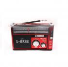 Аудио система с Bluetooth аккумуляторный ретро радиоприемник колонка с радио и USB выходом и фонариком Красный Golon (RX-381BT) - изображение 1