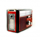 Аудио система с Bluetooth аккумуляторный ретро радиоприемник колонка с радио и USB выходом и фонариком Красный Golon (RX-381BT) - изображение 2