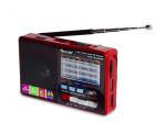 Аккумуляторный портативный радиоприемник FM радио колонка с фонариком и USB выходом Power Bank Черно-красный Golon (RX-2277) - изображение 3