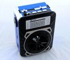 Акустична система радіоприймач FM акумуляторний з USB виходом колонка з радіо Синій Golon (rx-9122) - зображення 4